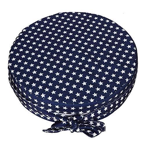 Zitverhoging voor baby's, eetkamerstoel voor kinderen, met verhoogd zitkussen van zachte spons, rond, antislip.