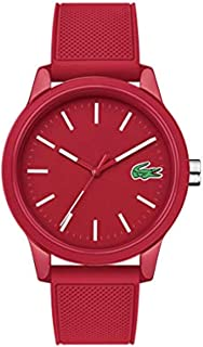 Lacoste Lacoste.12.12 Men's Red Dial Silicone Band Watch - 2010988