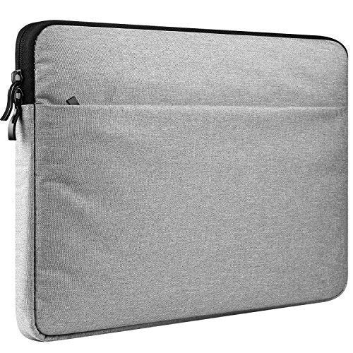 """CCPK 11-13 inch Laptop Sleeve Compatible for Newest 13.3 in MacBook Air 2018 A1932 / Pro 2016 2017 2018 A1708 / with Touch Bar A1706 A1989 Dell XPS 13 Latitude 7390 Carrying Case Bag 13"""" Pocket Grey"""