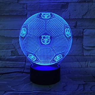 3D Night Light Barcelona Football Illusion Lámpara De Mesa Led 7 Color Touch Control Remoto Color Mood Lamp Usb Home Bedroom Lámpara De Noche