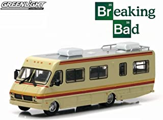 Greenlight Breaking Bad 1986 Fleetwood Bounder RV, Tan with Stripes 33021/48 - 1/64 Scale Diecast Model Toy Car