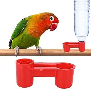 AUNMAS 20Pcs Plastic Bird Drinker Feeder Soda Water Bottle Farm Drinking Feeding Tool Drinking Fountain Equipment for Pige...