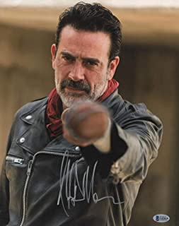 JEFFREY DEAN MORGAN SIGNED 11X14 PHOTO WALKING DEAD AUTOGRAPH NEGAN BECKETT K