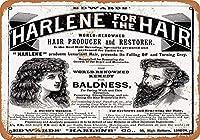 Harlene Hair Producer Restorer メタルポスタレトロなポスタ安全標識壁パネル ティンサイン注意看板壁掛けプレート警告サイン絵図ショップ食料品ショッピングモールパーキングバークラブカフェレストラントイレ公共の場ギフト
