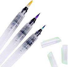 KABEER ART 3 Sizes Water Brush Pen for Watercolor Calligraphy Drawing Tool Marker