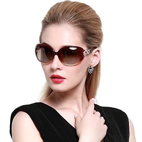 1c81c6f45664 DUCO Shades Classic Oversized Polarized Sunglasses for Women 100% UV  Protection 1220