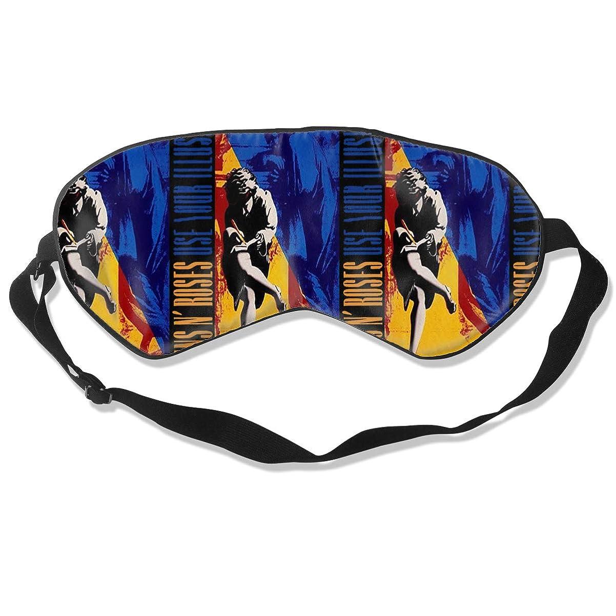 欠員クレデンシャル私たちアイマスク Guns N' Roses 睡眠対策、いびき軽減、眠りと目の疲れ、スーパーソフト、超滑らかな絹のような通気性