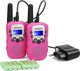 Retevis RT388 Talkie Walkie Enfants Rechargeable Talkie Walkie Fille 8 Canaux 99 Codes..