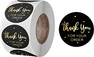 """Feminino 500 Label Stickers Large 1.5"""" inch Gift Tags Collection, Thank you, Handmade with Love, Merry Christmas, Thank yo..."""