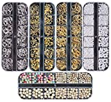 Ranvi 3000 Piezas (5 Cajas) Conjunto de diamantes de imitación de arte de uñas Adornos de uñas Estilo2