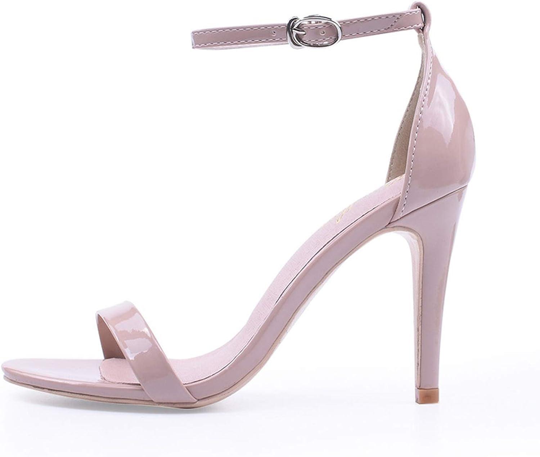 Alerghrg Sexy Heeled Sandal Ankle Strap Stiletto Open Toe Size