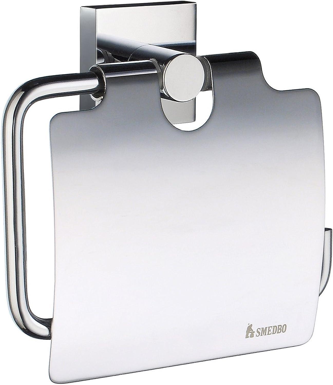 Smedbo  House verchromtem Toilettenpapierhalter mit Deckel, silber B001A9AQ1I