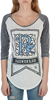 Ravenclaw House Crest Flag Juniors 3/4 Sleeve Raglan T-Shirts
