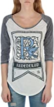 HARRY POTTER Ravenclaw House Crest Flag Juniors 3/4 Sleeve Raglan T-Shirts
