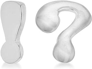 Tuscany 纯银问号和感叹号耳钉