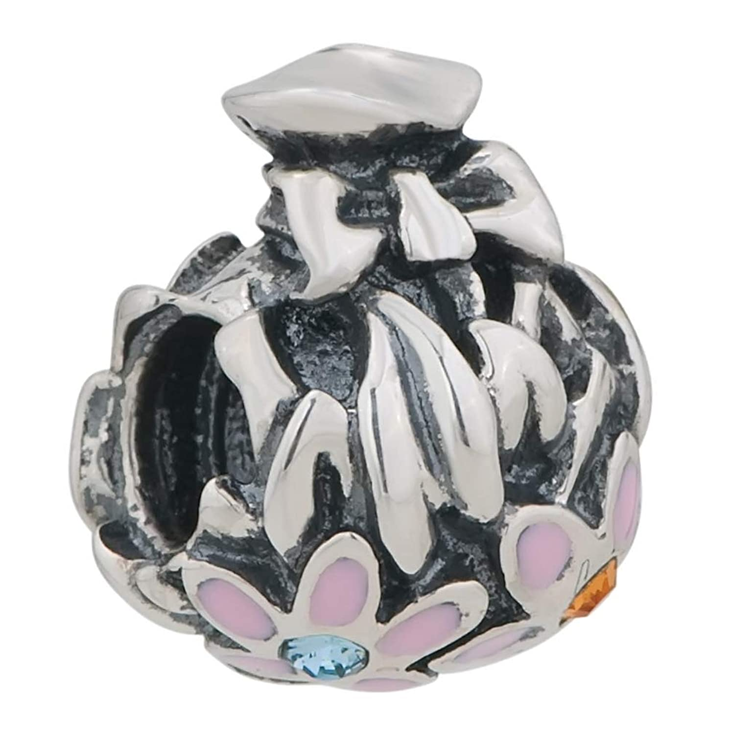 Flowers Gifts for mom Beads 925 Sterling Silver Fit European Charms