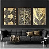 LJXIAOXINFBH Burst Circle Canvas Painting Gold Poster Print Luxurious Wall Art Pictures for Living Room Dining Room 40x50cm / 15.7'x 19.7' with Frame