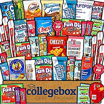 CollegeBox Care Package  45 Count  Snacks Food Cookies Granola Bar Chips Candy Ultimate Variety Gift Box Pack Assortment Basket Bundle Mix Bulk Sampler Treats College Students Office Staff Back School