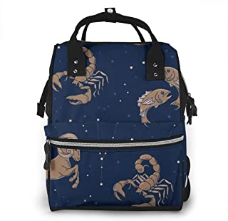 Planets Colorful Galaxy Multi-Function Travel Backpack Nappy Bag,Fashion Mummy Bag