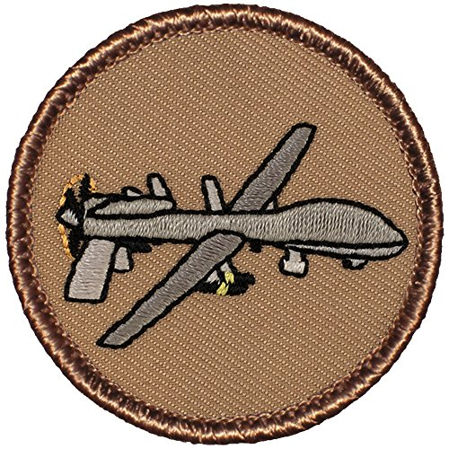 Drone Patrol Patch - 2' Diameter Round Embroidered Patch (Hook Fastener)