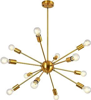 Modern Sputnik Chandelier 12 Lights Brass Mid Century...