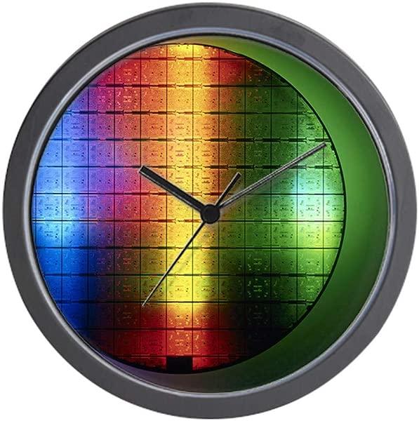 CafePress Semiconductor Wafer Unique Decorative 10 Wall Clock