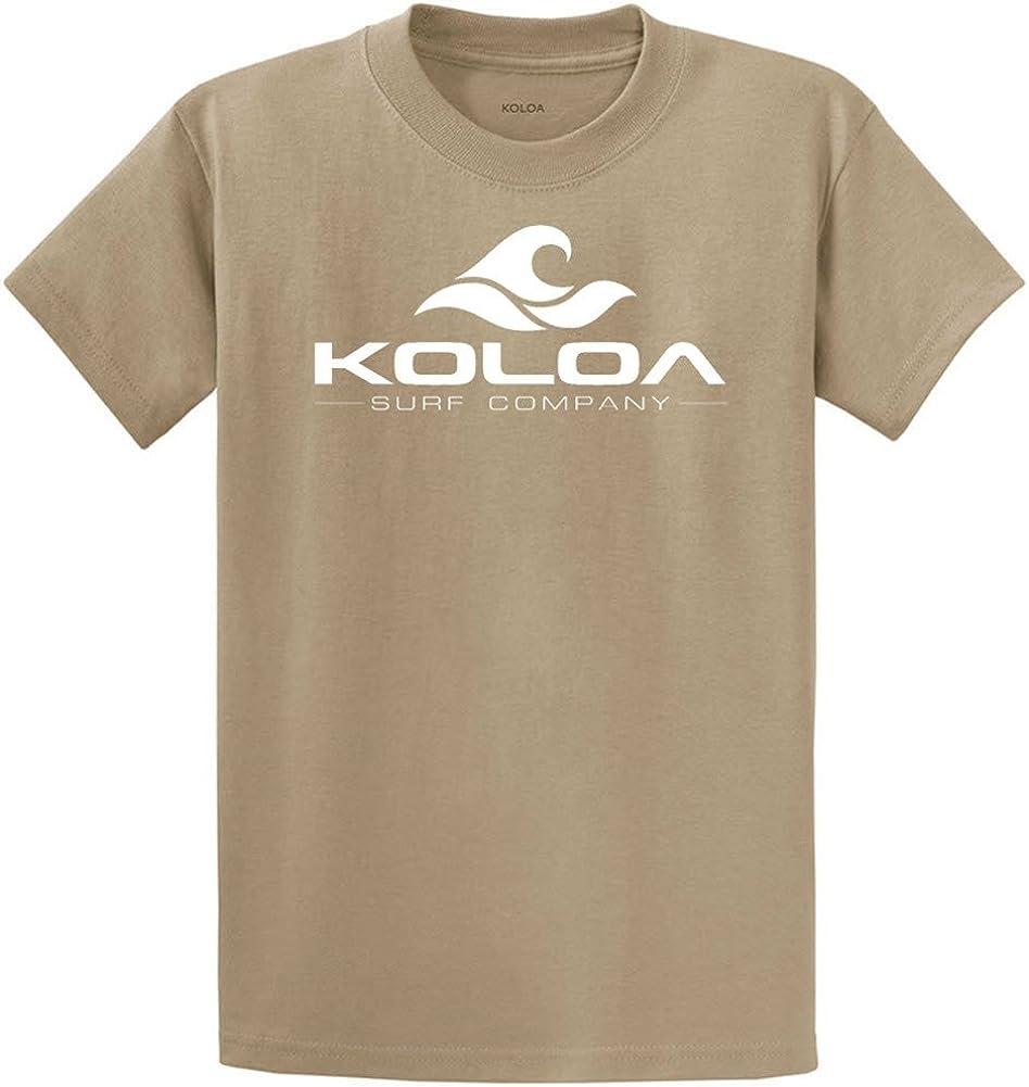 Koloa Surf Co. Wave Logo 50/50 Cotton Poly Blend T-Shirts 2X-Large Tall -2XLT Desert Sand