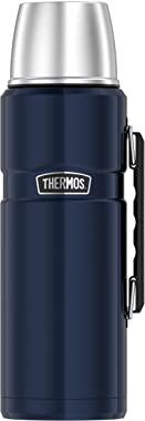 THERMOS Stainless King SK2020 Vacuum-Insulated Beverage Bottle, 68 Ounce, Matte Blue