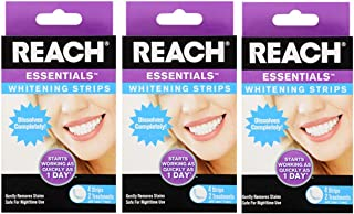 3 Pack - Reach Essentials Instant Teeth Whitening Strips give Yourself a Brighter Smile 12 Strips