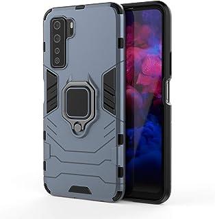 XIFAN fodral till Huawei Nova 5T, [Heavy Duty] taktisk metallring grepp kickstand, stötsäker stötfångare, fungerar med mag...