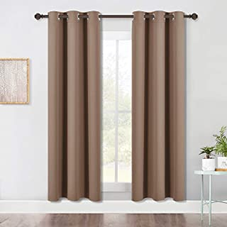 NICETOWN Blackout Draperies Curtains Window Drapes, Window Treatment Thermal Insulated Solid Grommet Blackout Panels for B...