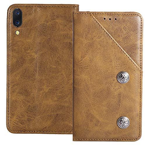 YLYT Flip TPU Silikon Braun Schutz Hülle Hülle Für Xiaomi Black Shark 2 Pro 6.39 inch Etui Leder Tasche Handyhülle Hochwertiges Stoßfeste Kartenfach Cover