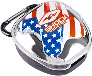 Shock Doctor 100-SLVCLRFLG Mouthguard Case Silver Flag OSFA-OSFA