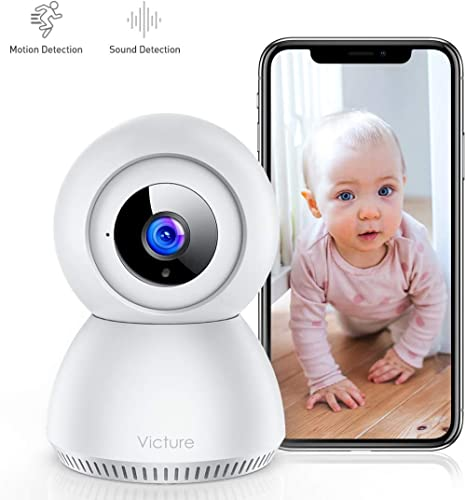 Victure 1080P FHD Baby Monitor with Smart Motion Tracking Sound Detection 2.4G WiFi Home Security Camera Indoor IP Surveillance Pet Camera with Night Vision, 2-Way Audio product image
