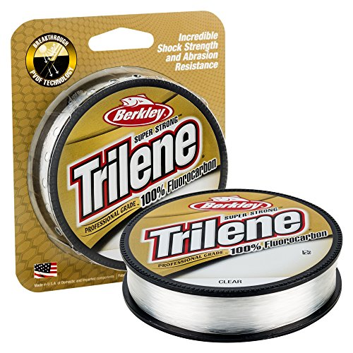 Berkley Trilene - Sedal de fluorocarbono para Pesca, Color Transparente, Talla 8 lbs 0.27 mm