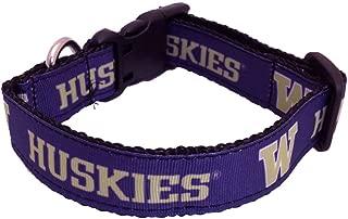 NCAA Washington Huskies Dog Collar (Team Color, Medium)