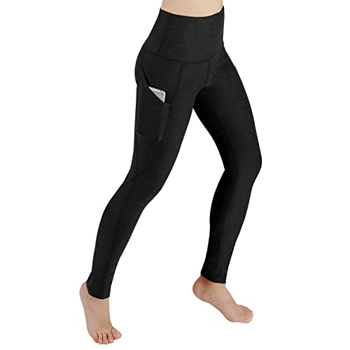 c79112b918e25 ODODOS High Waist Out Pocket Yoga Pants Tummy Control Workout Running 4 Way  Stretch Yoga Leggings