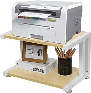 OROPY Étagère pour imprimante en Bois avec Pieds antidérapants réglables, Supports de Machine Organisateur de Bureau pour ...