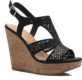 OLIVIA K Women's Pointed Toe D'Orsay Slingback Block Mid Heel Dress Pumps - Comfort, Casual