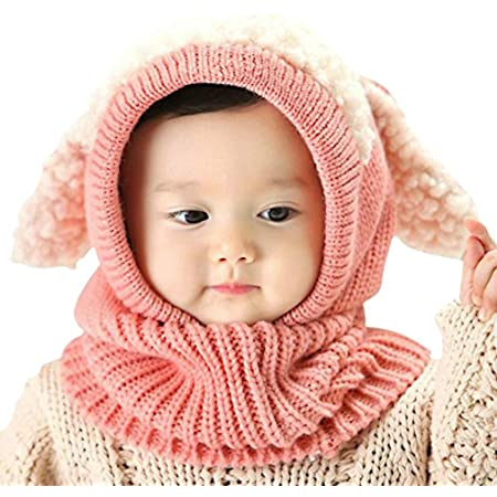 Tuopuda Baby Hats Scarf Sets,Toddler Winter Warm Hat Boys Girls Lamb Cashmere Warm Sets Kids Caps