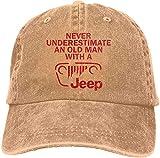 J-eep ajustable vintage lavado algodón papá sombrero de béisbol al aire libre sombrero sombrero de sol