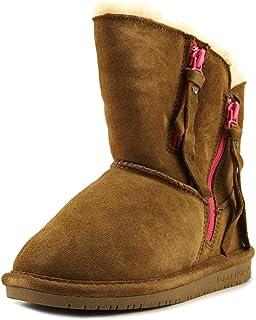 BEARPAW Boots Girls Mimi Youth Slim Tread Rubber Sole Faux Snake 1901Y