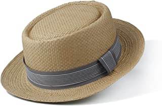 Sun Hat for men and women Summer Fashion Sun Hat Ms. Sun Hat Flat Ribbon Cap Panama Summer Travel Beach Hat Gray Ribbon Decoration Simple
