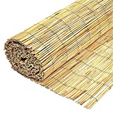 Wilsons <span class='highlight'>Direct</span> Natural Peeled Reed Fence Wooden Garden Screen Fence Fencing Privacy Panel Roll (1m x 4m)
