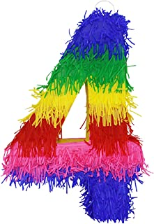 Lytio Small Pinata Number 4 Great for Any Birthday or Anniversary Party, Décor, Photo Prop, Center Piece