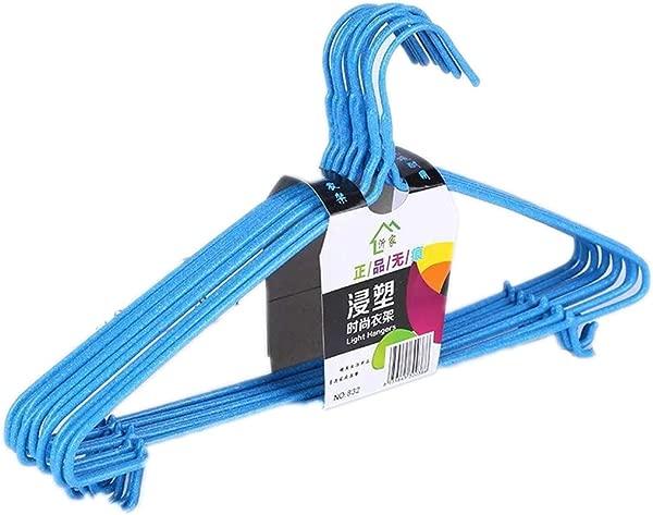 Zerama 10PCS Non Slip Wire Suit Coat Hanger Heavy Duty Space Saving Clothes Strong Hook Rack