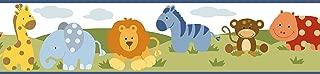 Chesapeake BBC94181B Simba Jungle Safari Cartoons Wallpaper Border, Blue