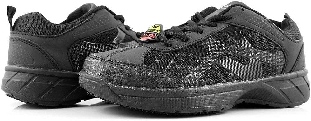 Laforst Gordon Mens Composite Safety Toe Slip Resistant Sneakers Black 8.5