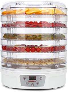YUNTAO Food dehydrator, Food Dehydrator Round Transparent Dryer 5 Layers for Dehydrated Fruits Vegetables Dried Meat Dry P...