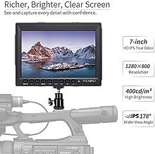 شاشة عرض فيديو فيلوورلد FW759 7 بوصة اي بي اس 1280x800 كاميرا فيلد دي اس ال ار لبي ام بي سي من كانون لسوني مع التركيز عالي الدقة 7 بوصة LCD A1 BPUP-32988070059-001